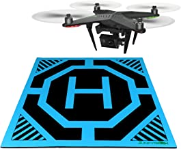 SunfyreTek Ultra Sleek and Stylish RC Remote Control Helicopter Drone Landing Pad Helipad 12-inch by 12-inch - Made for Mini Drones and RC Helicopters(Blue)