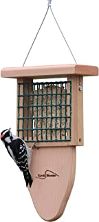 Kettle Moraine Cedar Single Cake Tail Prop Suet Bird Feeder with Hanging Cable