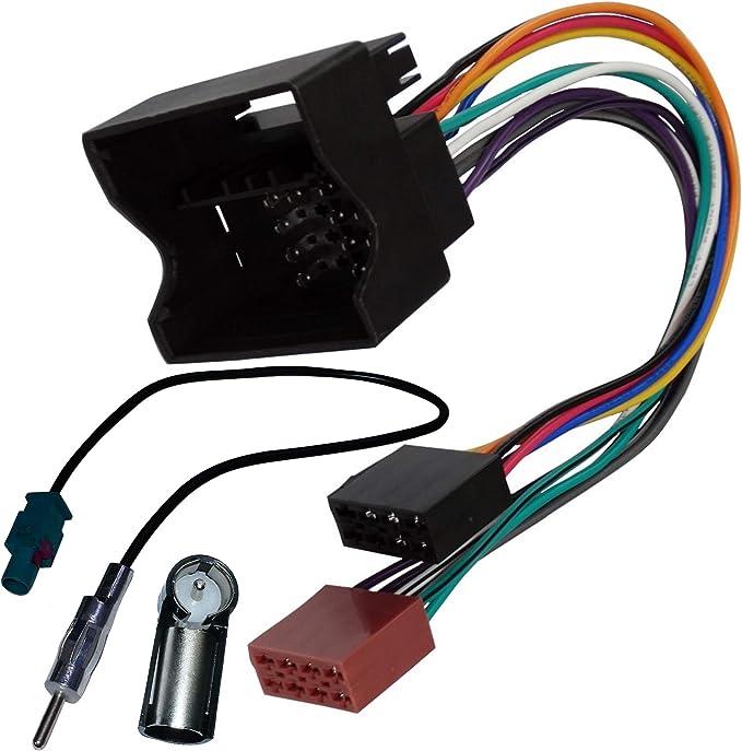 205 opiniones para AERZETIX: Adaptador con ISO cables enchufes y antena para autoradio