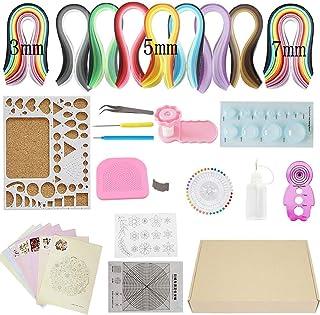 Quilling Paper Kit 23pcs/set 35 Colors 1220 Strips (paper width 3/5/7 mm) DIY Design Drawing Tool Handcraft