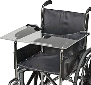 DMI Clear Wheelchair Tray, Acrylic Wheelchair Lap Tray