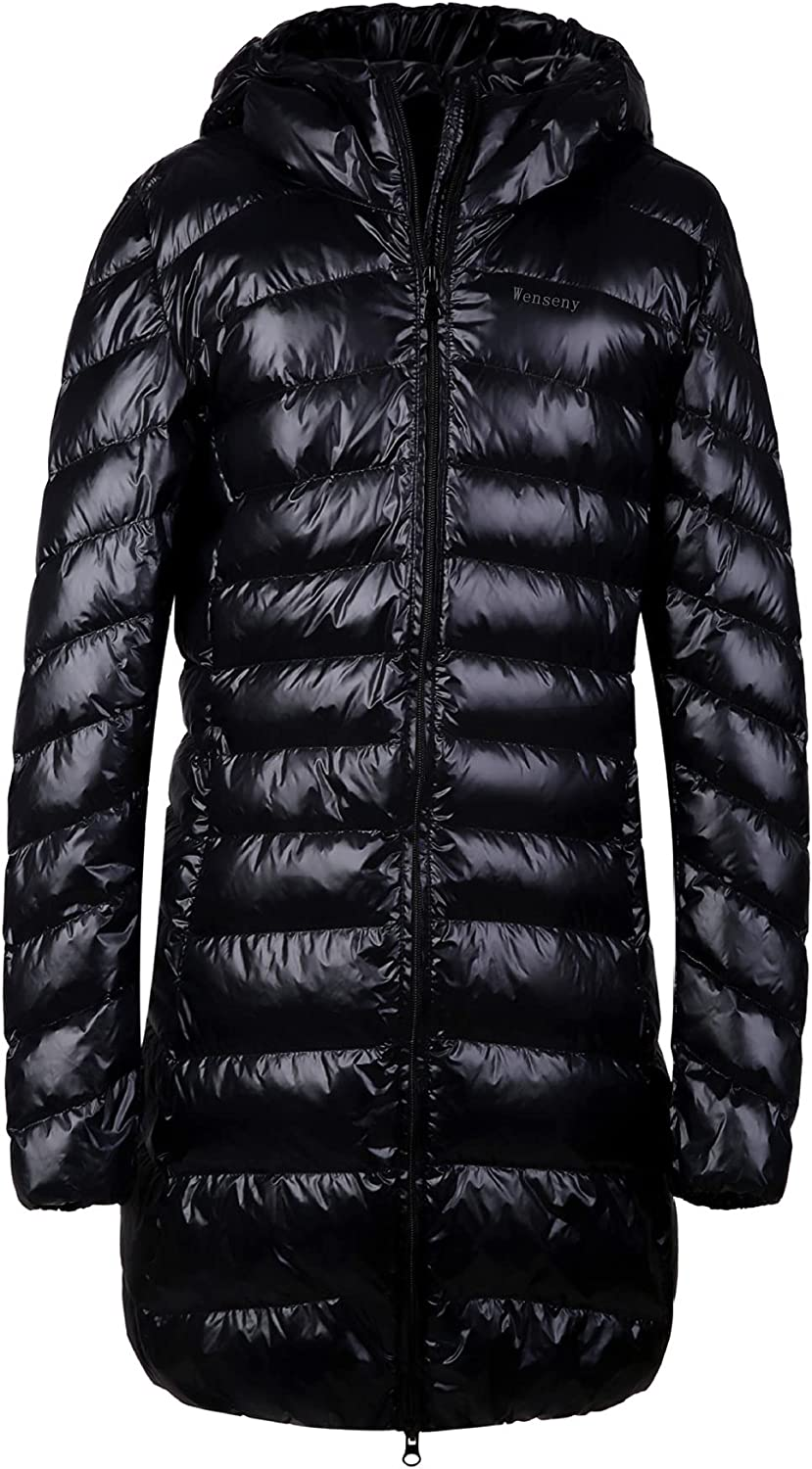 wenseny Womens Winter Outwear Packable Down Jacket Long Lightweight Hooded Coat 7 Color Available