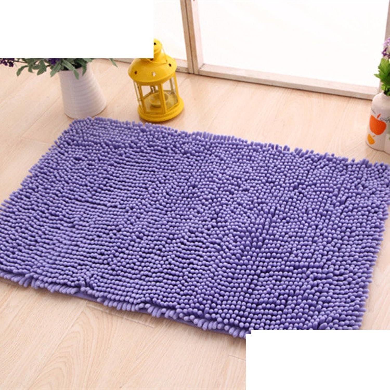 Chenille mat bathroom Bathroom Water-absorption anti-slip door mat floor mats for bedroom -I 50x160cm(20x63inch)