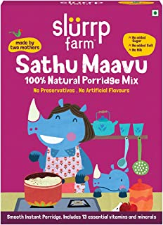 Slurrp Farm Sathu Maavu, 100% Natural Health Mix | Healthy Wholesome Food | 200g (Pack of 1)