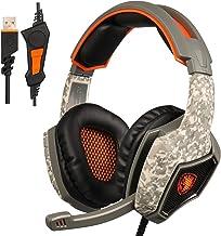 SADES sonido envolvente estéreo Gaming auriculares diadema auricular con micrófono para PC