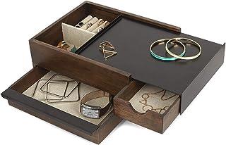 Umbra Stowit 290245-668 Boîte à Bijoux en Noyer/Noir