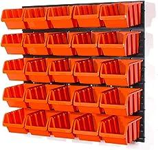 Set med 25 orange L-storlek IN-Box förvaringsfack högtalare