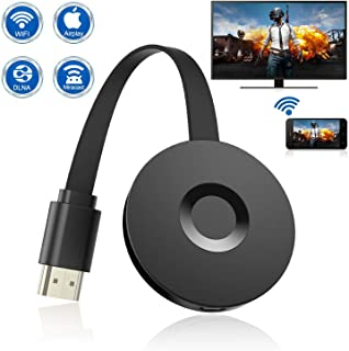 [2019 New] Wireless Display Dongle, WiFi Portable Display Receiver for TV Projector, 1080P HDMI Digital TV Adapter, Support Airplay DLNA Miracast, Compatible with iOS/Android Smartphones/Mac/Laptop