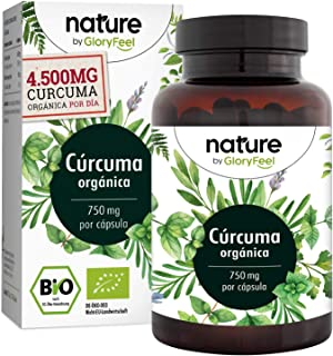 Cúrcuma Orgánica (4500mg) con Curcumina (355mg). Pimienta Negra (102mg) y (Piperina) (12mg) - 240 Cápsulas veganas gastroresistentes