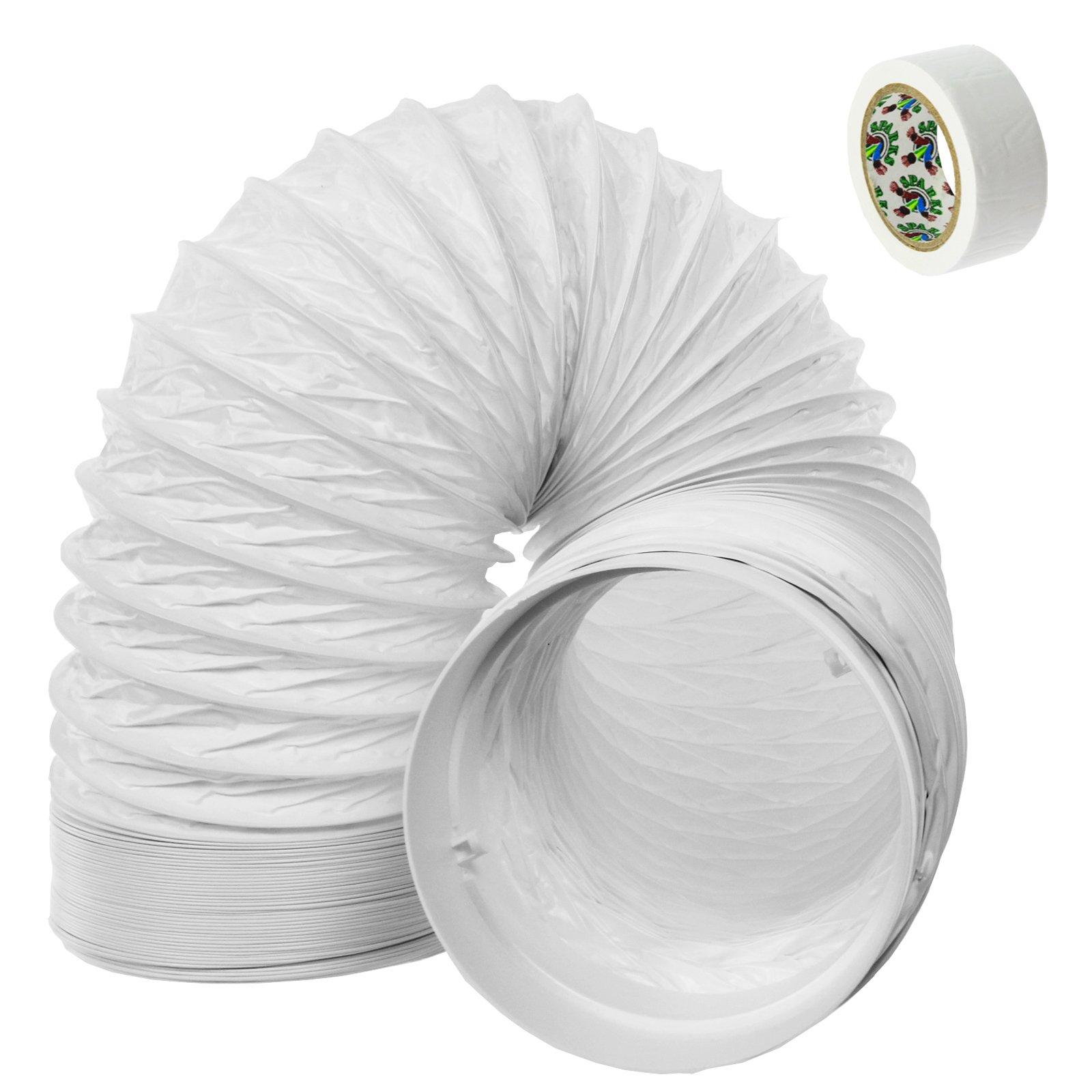 Spares2go Manguera De Tubo De Ventilación Extractor Kit de extensión de PVC para campana de cocina Smeg (3 M, 5