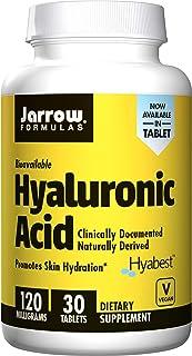 Jarrow Formulas Jarrow Formulas Hyaluronic Acid, Promotes Skin Hydration, 120 Mg, 30 Tablets, 30 Count