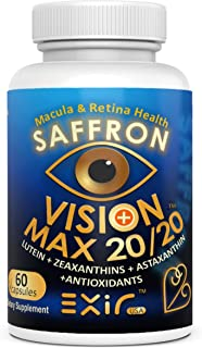 High Potency Saffron, Lutein, Meso-Zeaxanthin, Zeaxanthin, Astaxanthin, Proanthocyanidins, Curcuminoids, 60 Capsules
