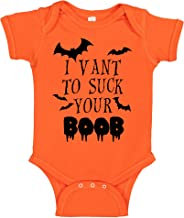 CBTwear I Vant to Suck Your Boob - Funny Halloween Romper Cute Novelty Infant One-Piece Baby Bodysuit