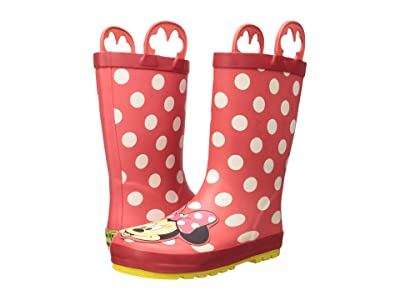 Western Chief Kids Minnie Mouse Rain Boots (Toddler/Little Kid/Big Kid) (Red) Girls Shoes