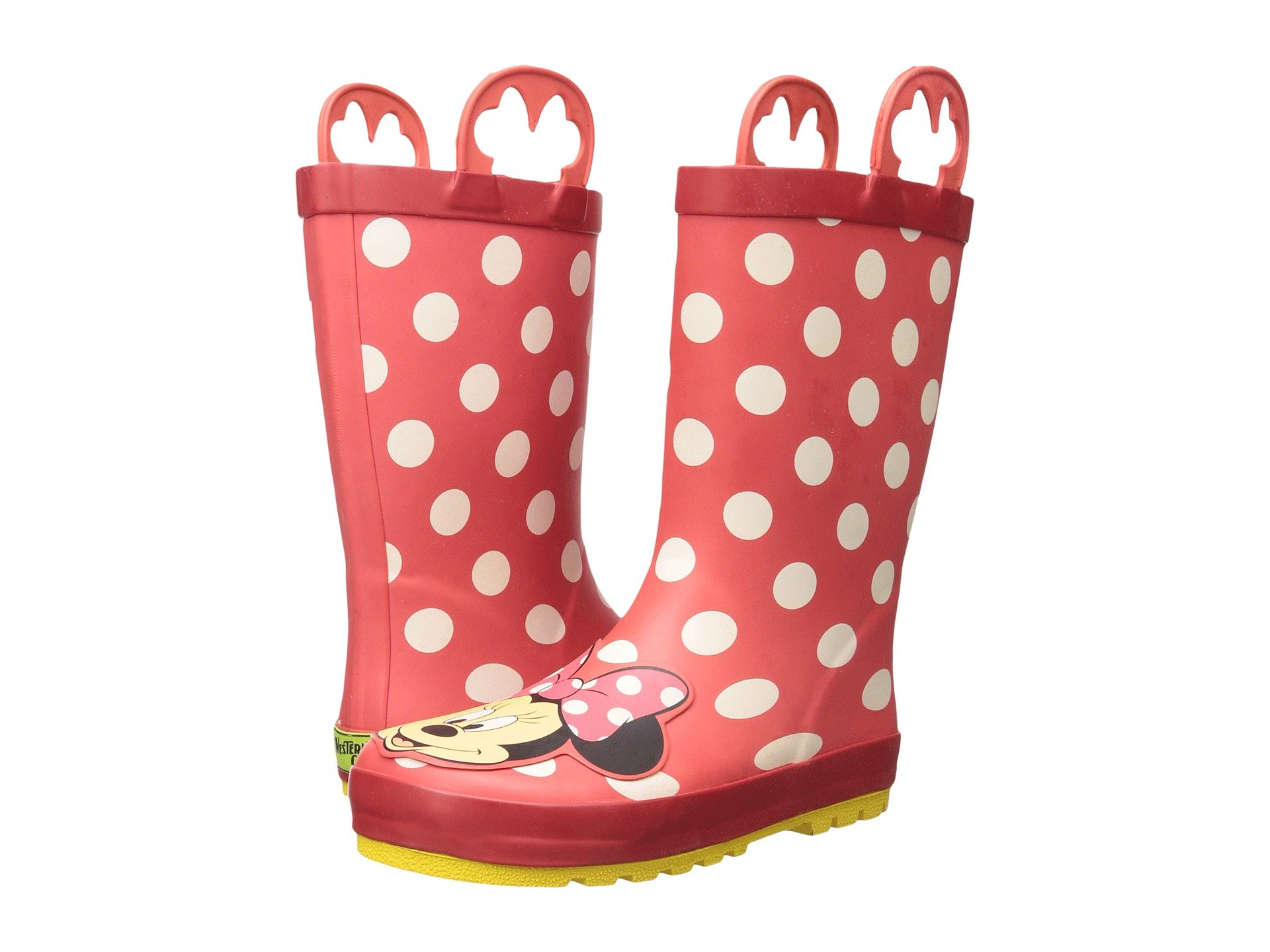 Western Chief Kids Minnie Mouse Rain Boots Toddler Little