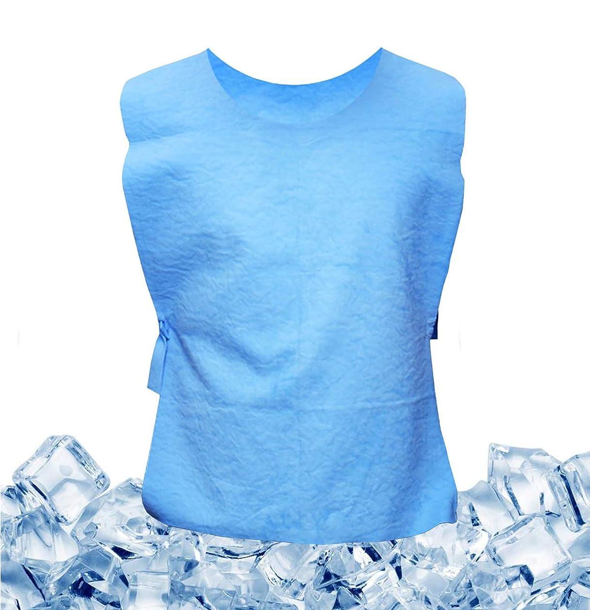 フルートエレガント不和クールベスト 冷感ベスト 冷却 空調服 ひんやり 熱中症対策 空調作業服 物理的 炎天下作業 工事現場