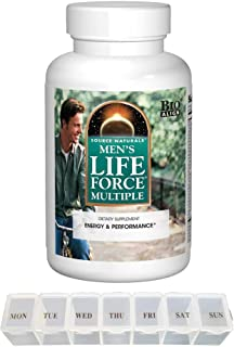 Source Naturals Men's Life Force Multiple Bio Align Dietary Supplement - 180 Tablets (with Daily Tablet Organizer)
