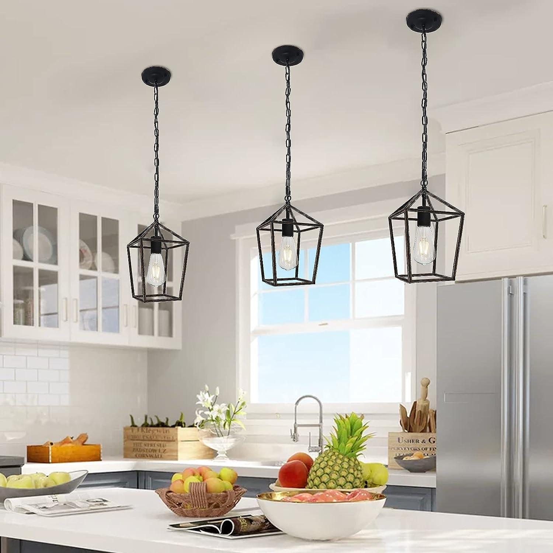 Zhizenl Pendant Lighting for Kitchen Island ,Retro Farmhouse Lantern  Chandelier, Dining Hall Chandelier, Mini Light Gold Pendant, Ceiling  Suspension ...
