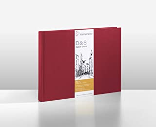 Hahnemuhle D and S Sketch Book, Landscape - A4, Red