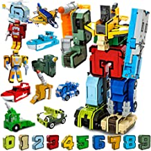 Moonio Numbers Transform Robots Toy Playset from 10 Pieces Combinate to A Big Early Learning Robot Gift for Boy (0-9 Numbers Robot)