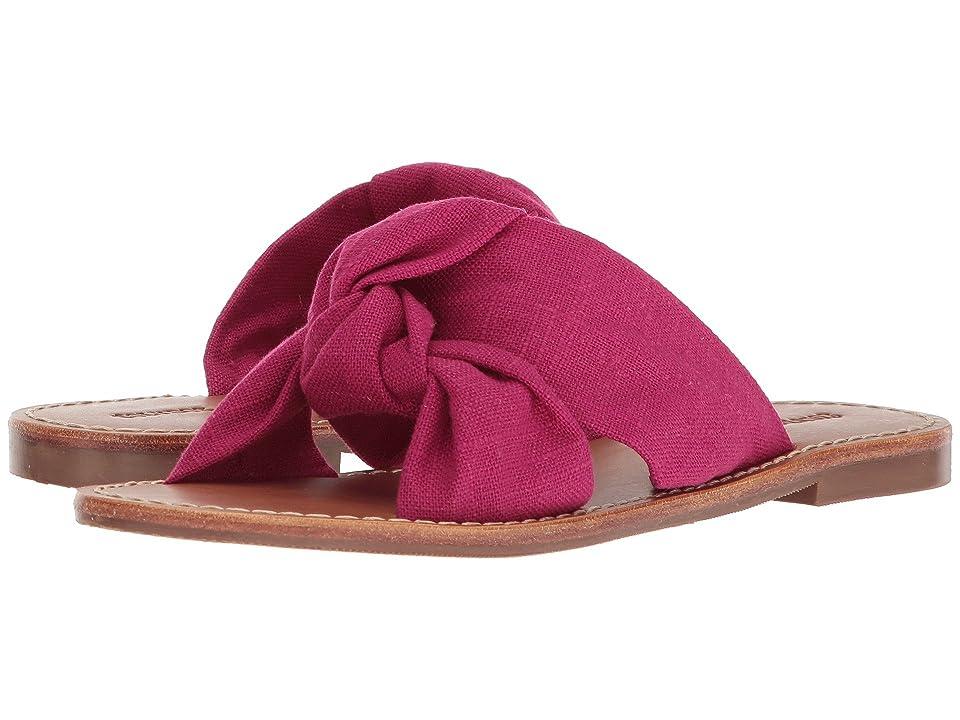 Soludos Knotted Slide Sandal (Fuchsia) Women