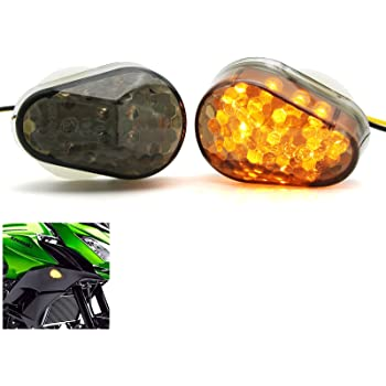 Motorcycle Flush Mount LED Turn Signals Light Indicator Blinker Fit For Kawasaki ZX6R ZX7R ZX9R ZX636 ZZR600 ZX12R Smoke