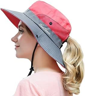 Muryobao Women Outdoor Summer Sun Hat UV Protection Wide Brim Foldable Safari Fishing Cap