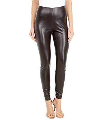 HUE Leatherette High-Rise Leggings (Espresso) Women