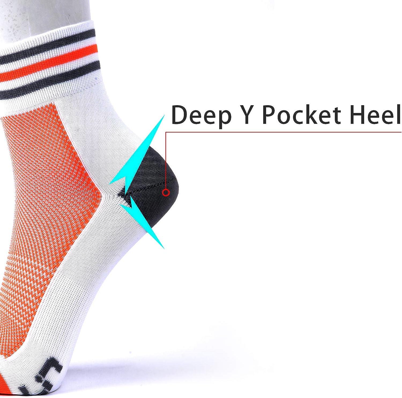 LIN 4 Pack Cycling Socks for Men /& Women-Moisture Wicking Biking Sports Crew Socks for Mountain Road Bike