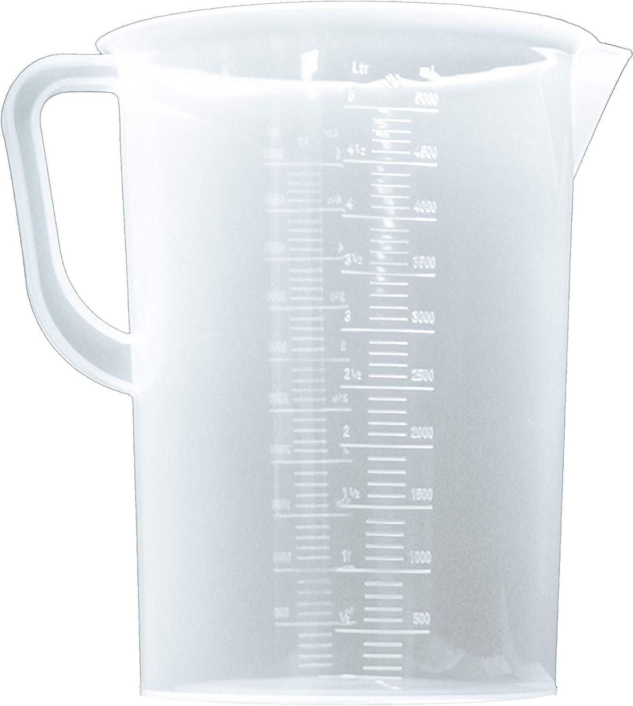 shipfree 5L Plastic OFFer Graduated Beakers with Beaker Handles Measuring 5000