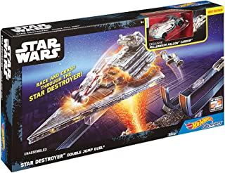 Mattel Hot Wheels Star Wars Carships Track Set - Star Destroyer Double Jump Duel