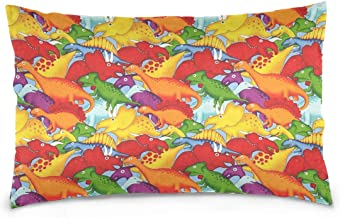 CATSDER Lost World Dinosaurs Pillowcase Rectangle Decorative Cushion Cover Cushion Velvet Case for Sofa,Bed,Chair,Auto Seat,(20x30inch) Twin Sides