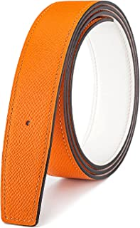 """Vatee's Men/Women Reversible Genuine Leather Replacement Belt without Buckle 1.5""""/1.25"""" Wide"""