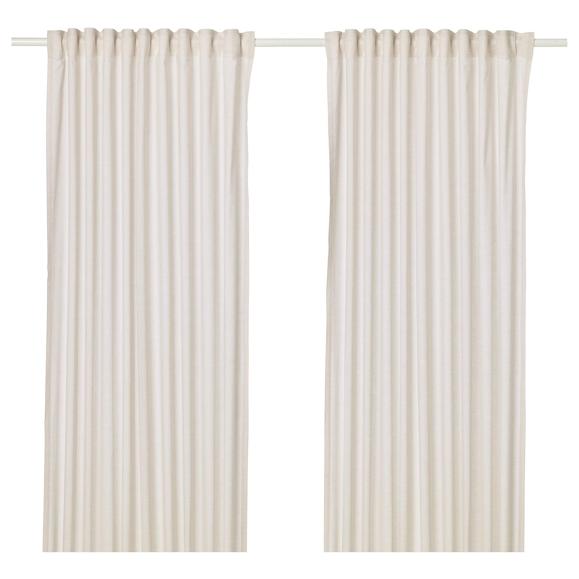 IKEA ASIA HANNALILL - Cortinas (1 par), Color Beige: Amazon.es: Hogar
