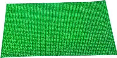 Kuber Industries PVC Thick Doormat - Green, Size 60 cm x 38 cm x1.5 cm