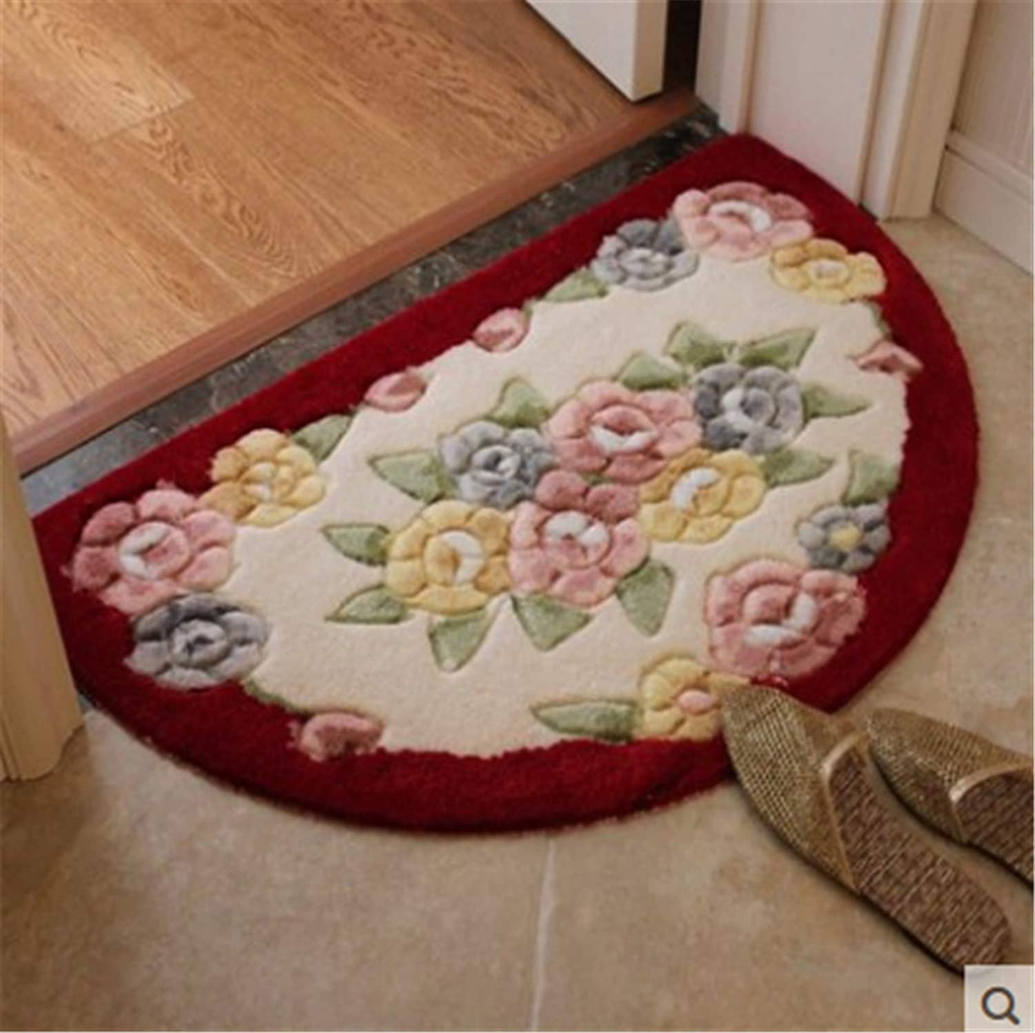 Flower Thick Door Mat Kid Room Carpet Area Rug for Bathroom Kitchen Home Non-Slip Door Mat 5 60x90cm