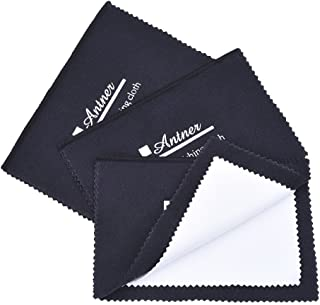 Antner 3 Pack Jewelry Polishing Cloth for Silver, Gold, Brass, Watches, Cutlery and Camera Shot