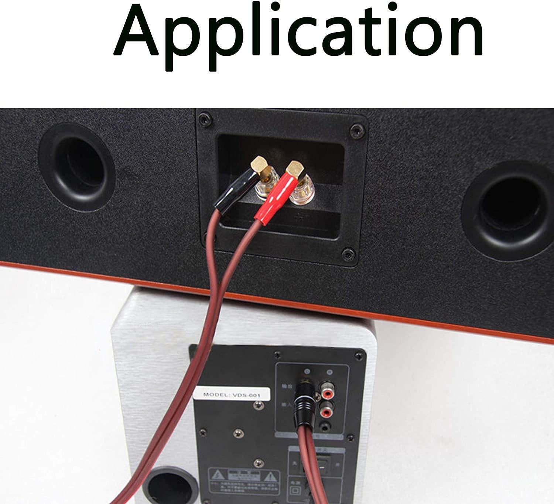 4N OFC de alta fidelidad de 1,0 m Longitud: 1 m. 2banana cable de altavoz de fono cable de altavoz RCA macho a conectores banana Cable de altavoz de banana a RCA