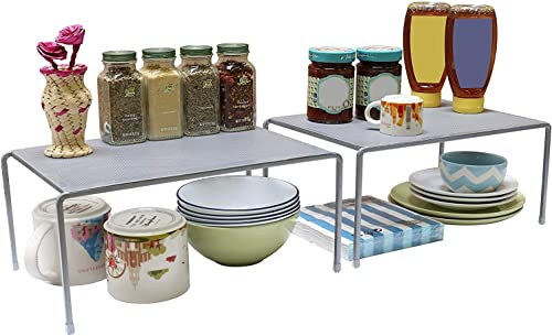 Callas Stackable Kitchen Cabinet And Counter Shelf Organizer,Silver, Ca91Ab product image