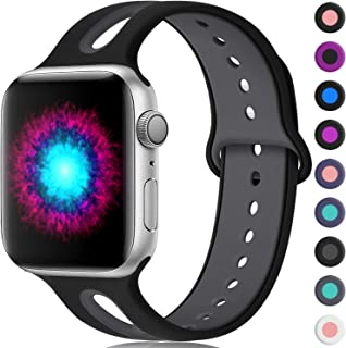 Haveda Sport Bands Compatible for Apple Watch Series 5 40mm 44mm Series 4 Band, Breathable iWatch Bands 38mm 42mm Womens Silicone Watch Bands for Apple Watch Series 3 iWatch Series 2/1 Women Men Kids