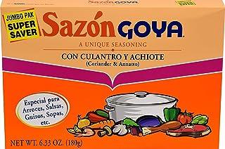 Goya Sazon Culantro/Achiote Jumbo 6.3 OZ(Pack of 4)
