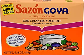Goya Sazon Culantro/Achiote Jumbo 6.3 OZ(Pack of 2)