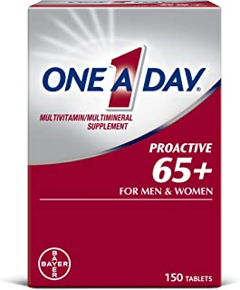 One A Day Proactive 65+, Mens & Womens Multivitamin, Supplement with Vitamin A, Vitamin C, Vitamin D, and Zinc for Immune ...