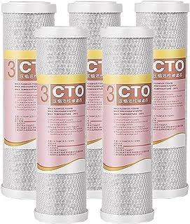 5-delige Notendop Actieve Kool Waterzuiveraar, Cto Precisie Verbranding Gecomprimeerde Actieve Kool Filter, Huishoudelijke...