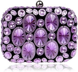 DIEBELLAU Ladies Diamond Dinner Bag Ladies Party Dress Evening Bag Clutch Bag (Color : Purple, Size : XS)