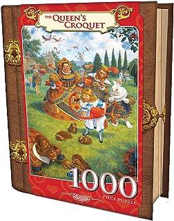 MasterPieces The Queen`s Croquet - Alice in Wonderland 1000 Piece Book Box Jigsaw Puzzle
