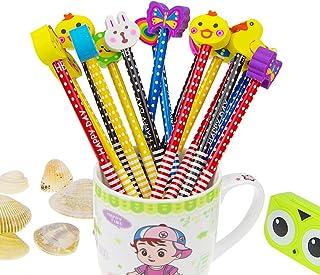 Set matita del fumetto, Attiant 40 Pcs matita in legno con gomma matite grafite colorate con gomme, Materiale Scolastico R...