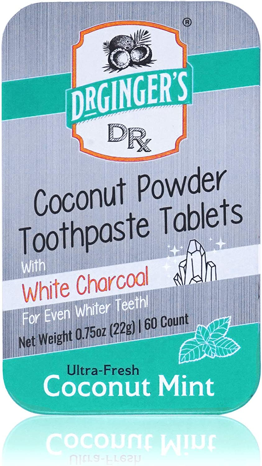 White Charcoal Max 59% OFF Quantity limited Toothpaste Tablets