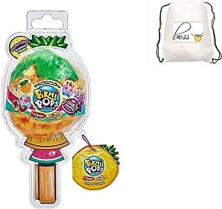 POG Kids Girls (Bonus Exclusive Pinky Pen) Pikmi POPS Fruit Fiesta Flips - Reversible Scented Plush