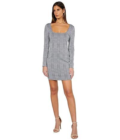 Bebe Square Neck Jacquard Dress